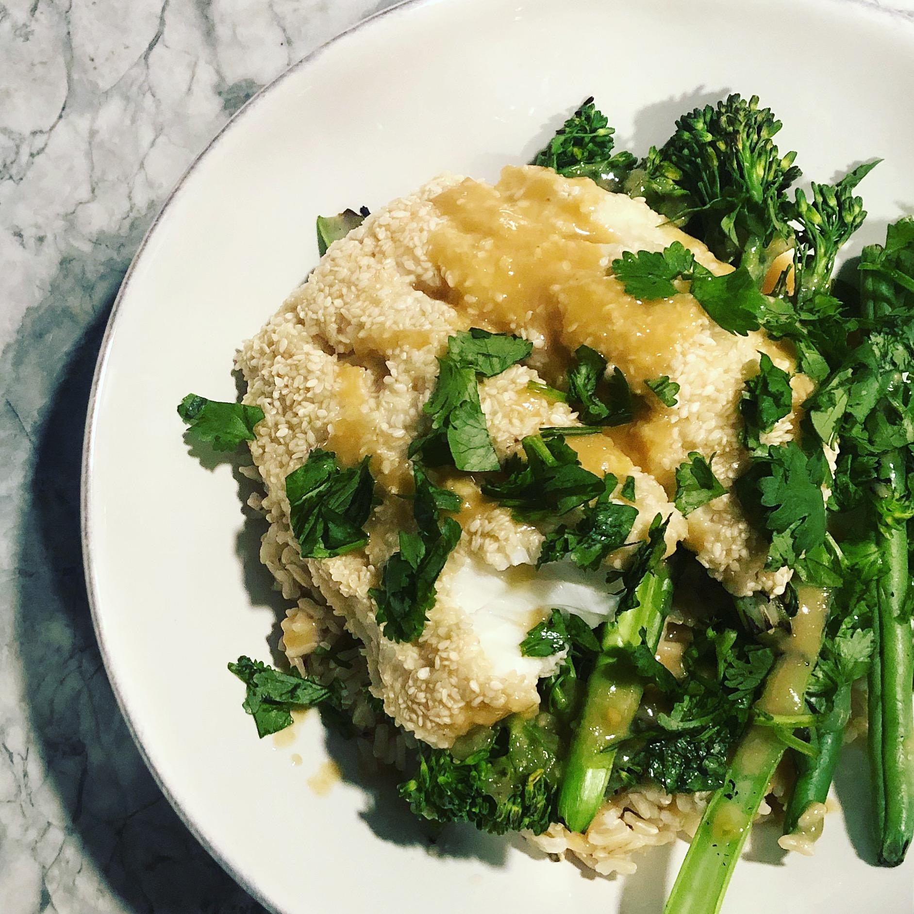 Miso Cod and Broccoli Grain Bowls
