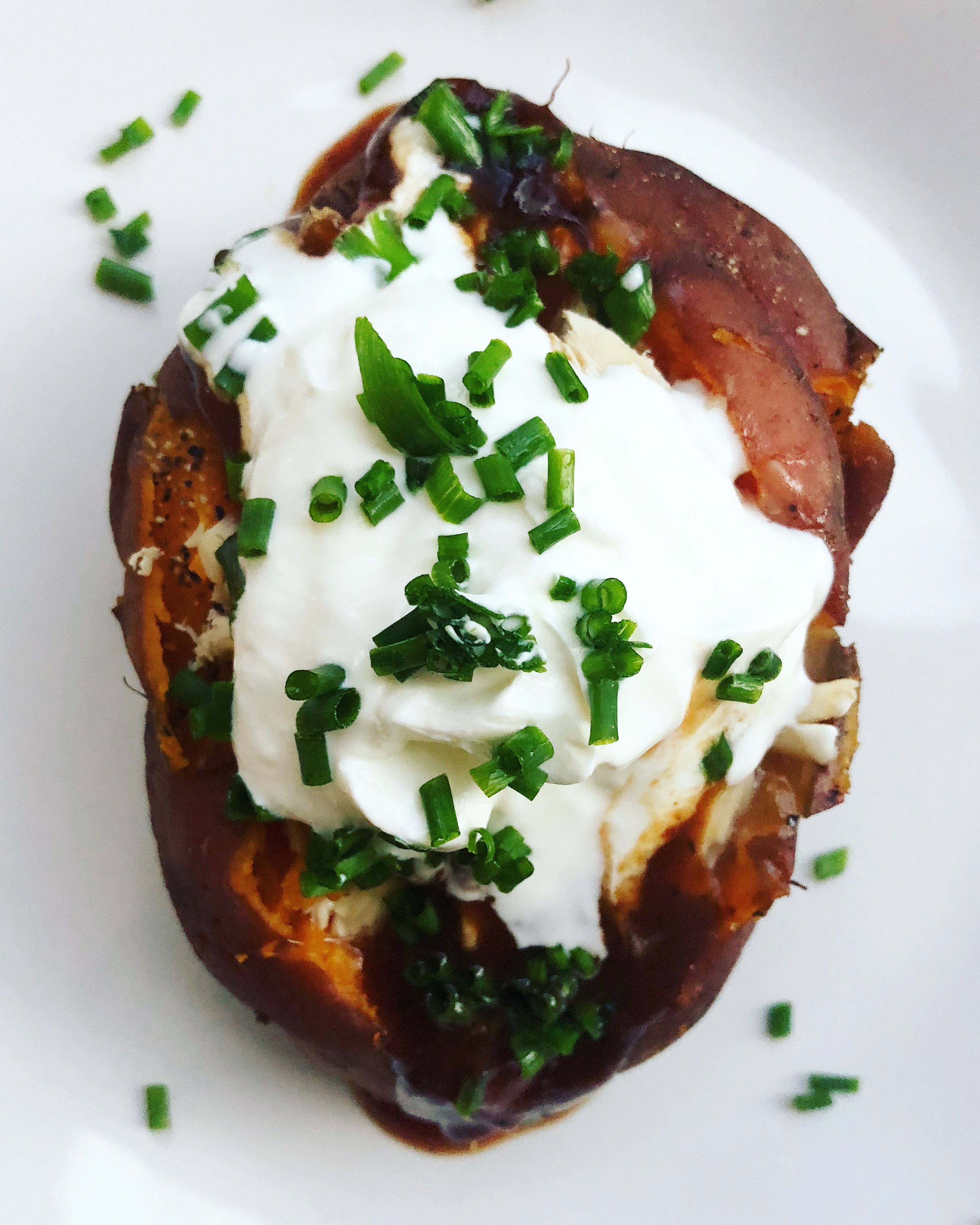 Slow Cooker BBQ Sweet Potato Bakers